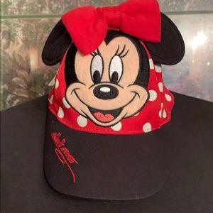 Minnie mouse little girls baseball cap